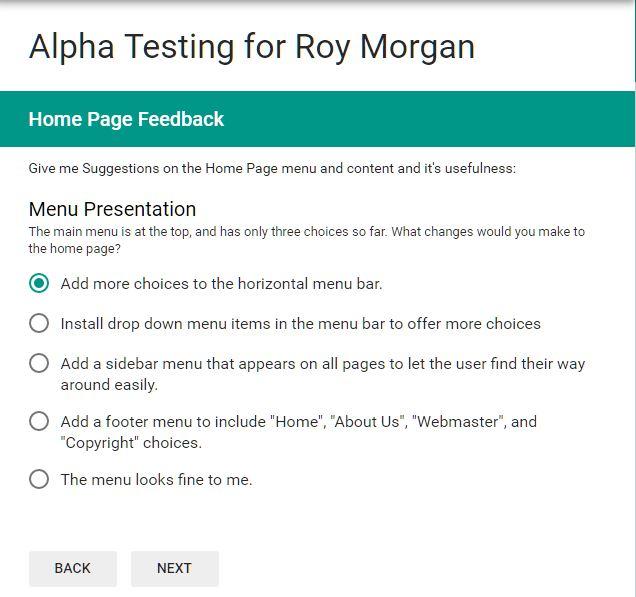 Sample Alpha Test Form: Newsletter